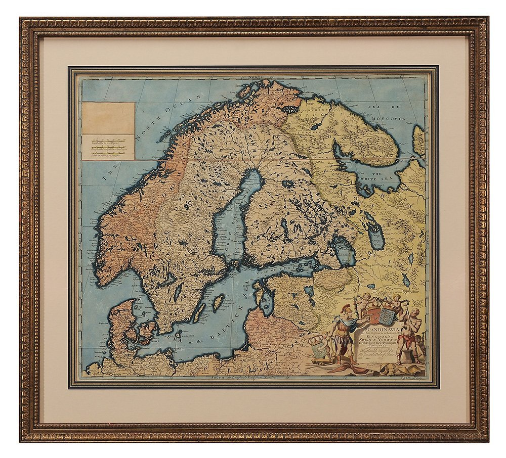 John Senex Map of Scandinavia