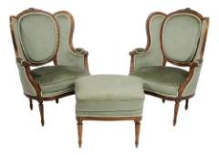 Pair Louis XVI Style Carved