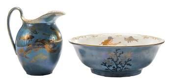 Crown Devon Lustrine Mermaid Wash Bowl