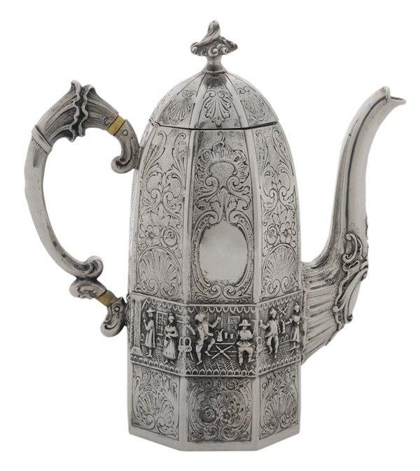 German Silver Individual Coffee Pot
