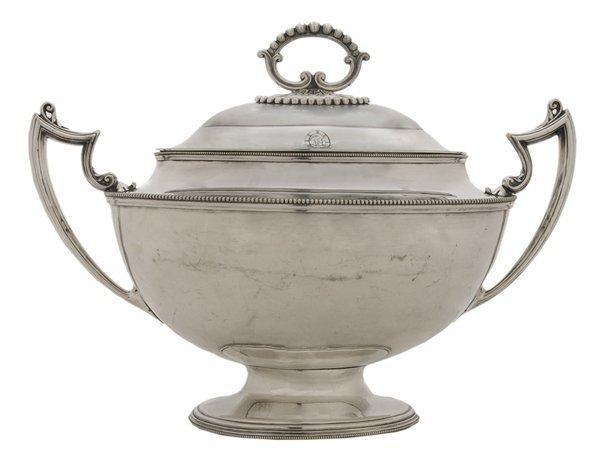 Silver-Plate Lidded Tureen