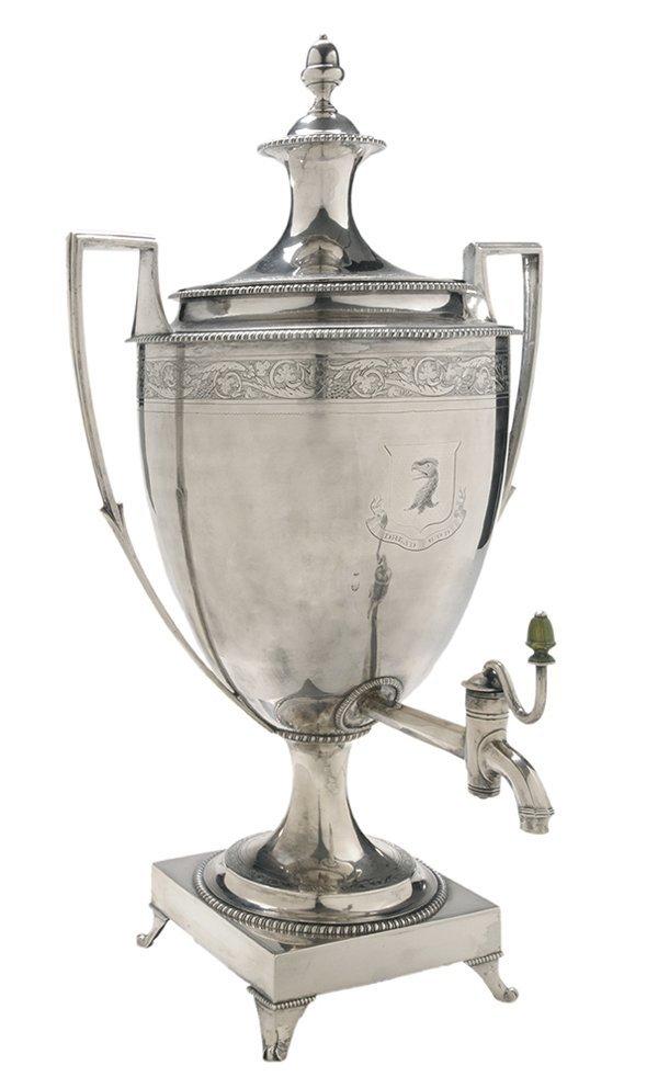 English Silver Hot Water Urn