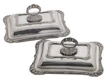 Pair SilverPlate Entre Dishes