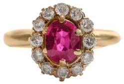 Ruby, Diamond Ring