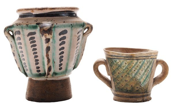 Two Early Majolica Vessels