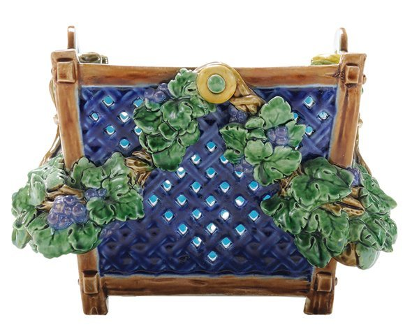 Minton Reticulated Majolica Basket