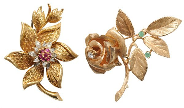 Two Three-Dimensional Brooches