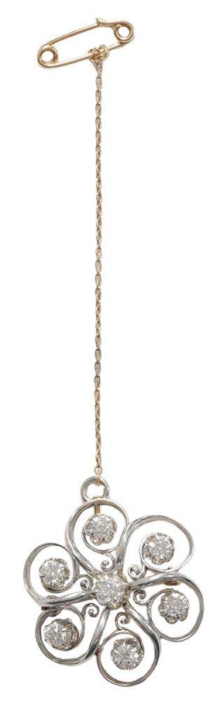 Vintage Diamond Brooch Pendant