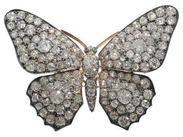 Butterfly Trembler Brooch With