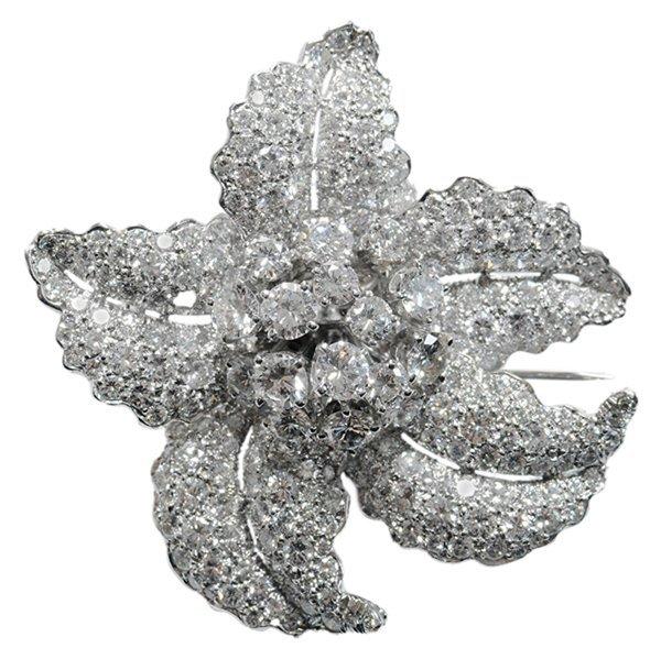 Platinum Diamond Flower Trembler