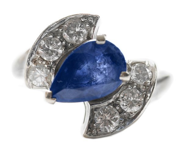 Sapphire, Diamond Ring