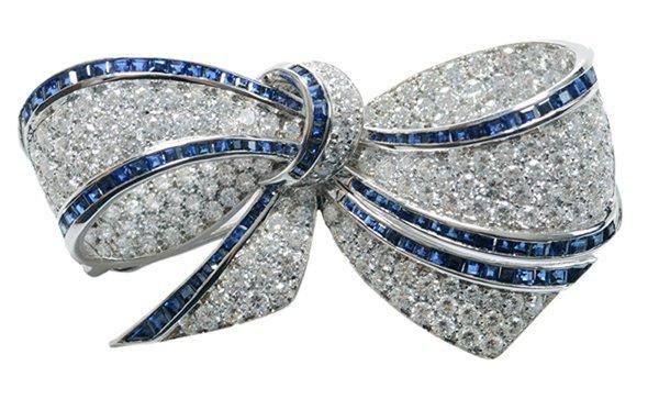 Picchiotti Style Sapphire, Diamond Bow