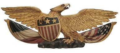 Fine American Folk Art Carved Gilt