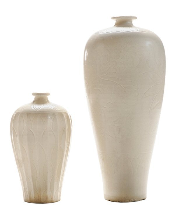 Two Chinese Ding Ware Vases With