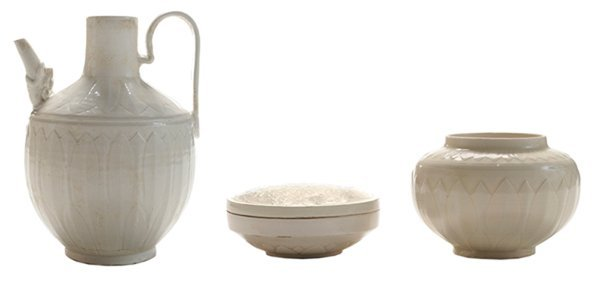 Three Pieces Chinese Ding Ware