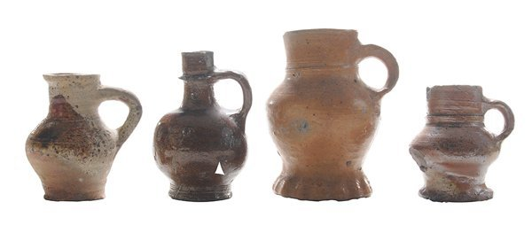 Four Early Stoneware Tankard/Jugs