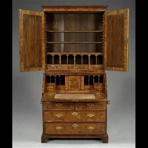 133: English secretary bookcase,