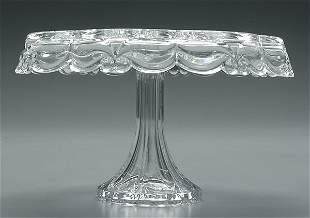 Glass cake stand,