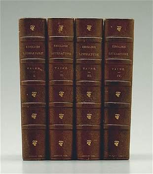 Four three-quarter leather volumes,