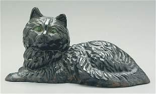 Cast iron cat door stop,