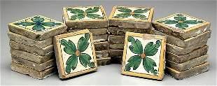 26 Italian faience tiles,