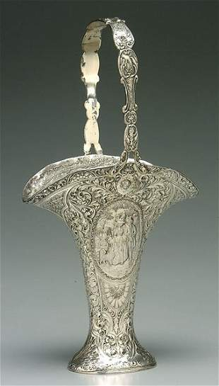 Victorian silver-plated basket