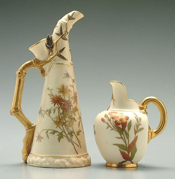 22: Two Royal Worcester pitchers:
