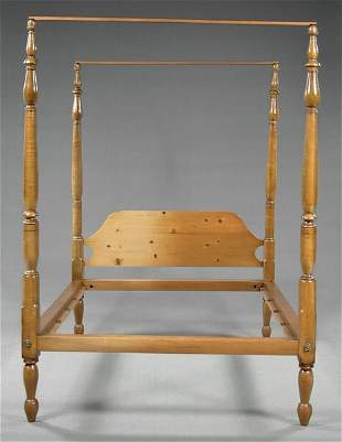 Maple tall poster bed,