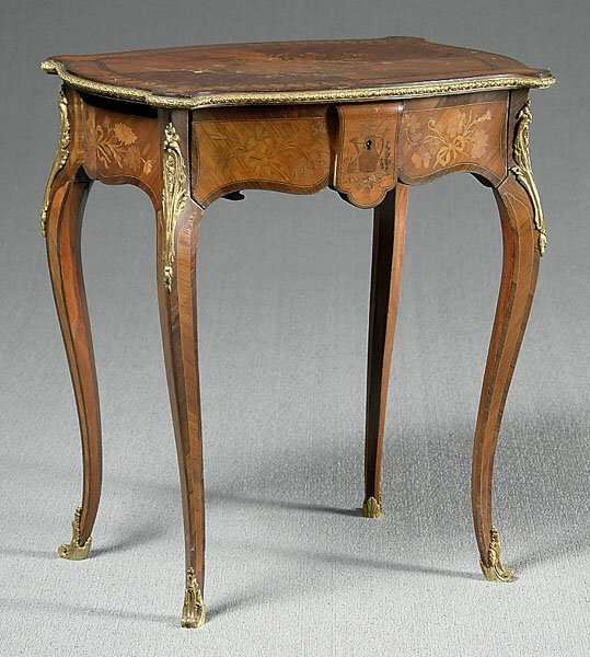 611: Inlaid French stand,