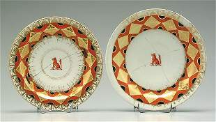 Two Worcester Chamberlain plates,
