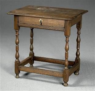 18th century style English oak stand,