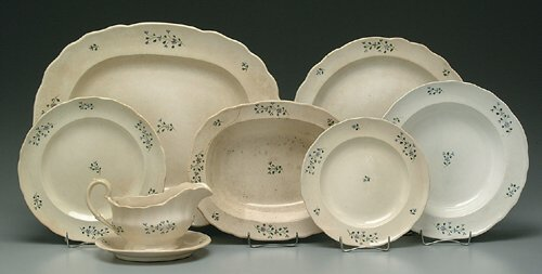 10: 31 pieces English pearlware china, 19th c