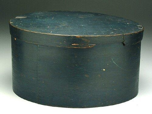 "16: Lidded oak and poplar pantry box, 6"" loss"
