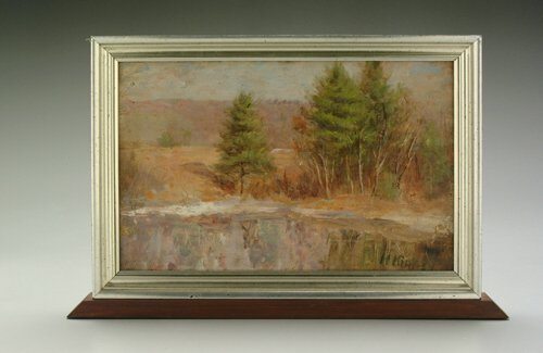23: American school wooded winter landscapes,