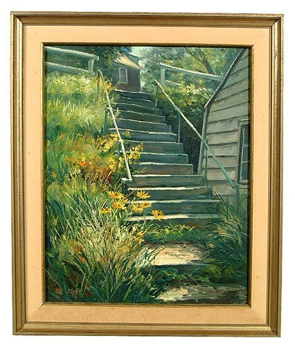 24: Oil on canvas by Michael Stoffa (American