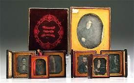 433: Seven cased daguerreotypes