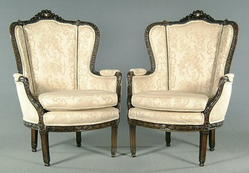 621: Pair upholstered side chairs