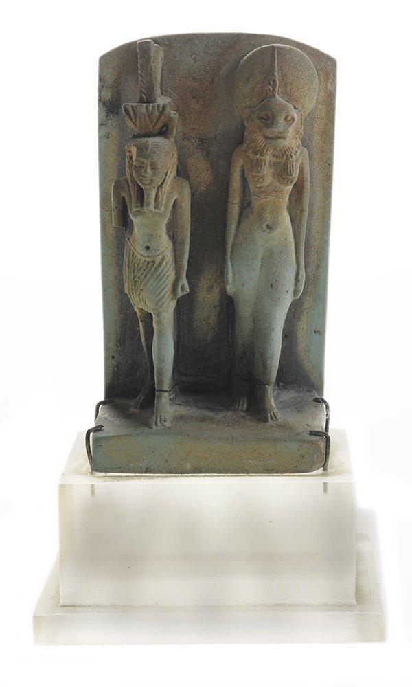 Egyptian Faience Figure Depicting