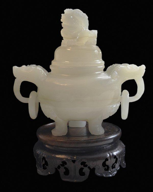 Xin-Jiang White Jade Incense Burner