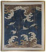 Japanese Silk Embroidery of Cranes