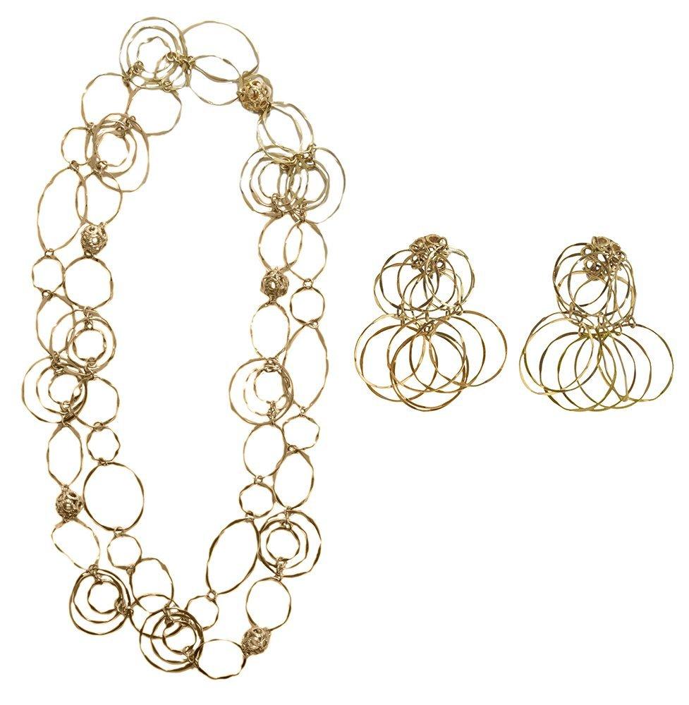 Cartier 18 Kt. Gold Necklace, Earrings