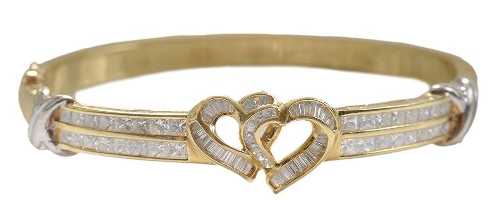 18 Kt. Diamond Bangle Bracelet