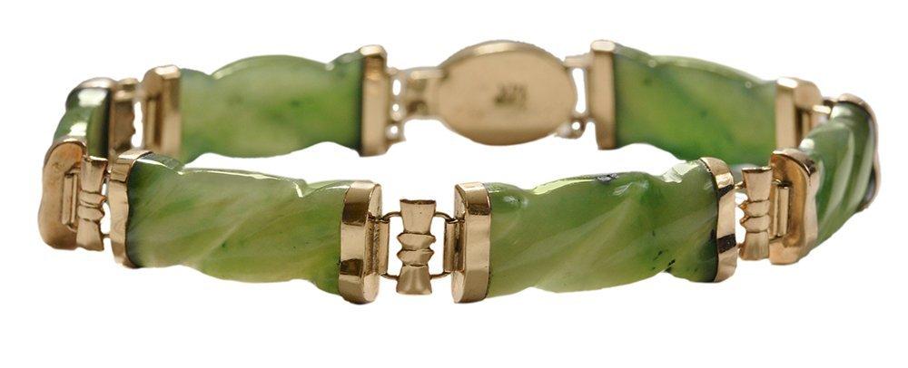 14 Kt. Jadeite Jade Bracelet