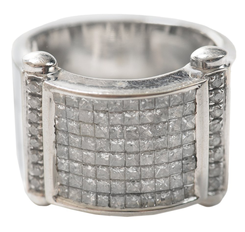 Wide Band Style Diamond Ring