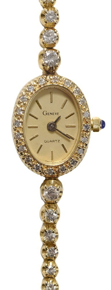 Lady's 14 Kt. Gold and Diamond Watch