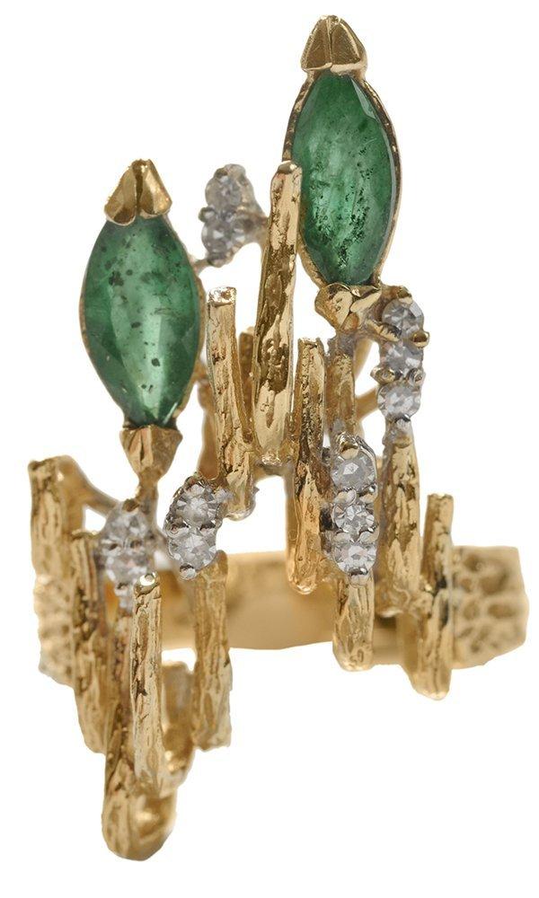 Contemporary Emerald and Diamond