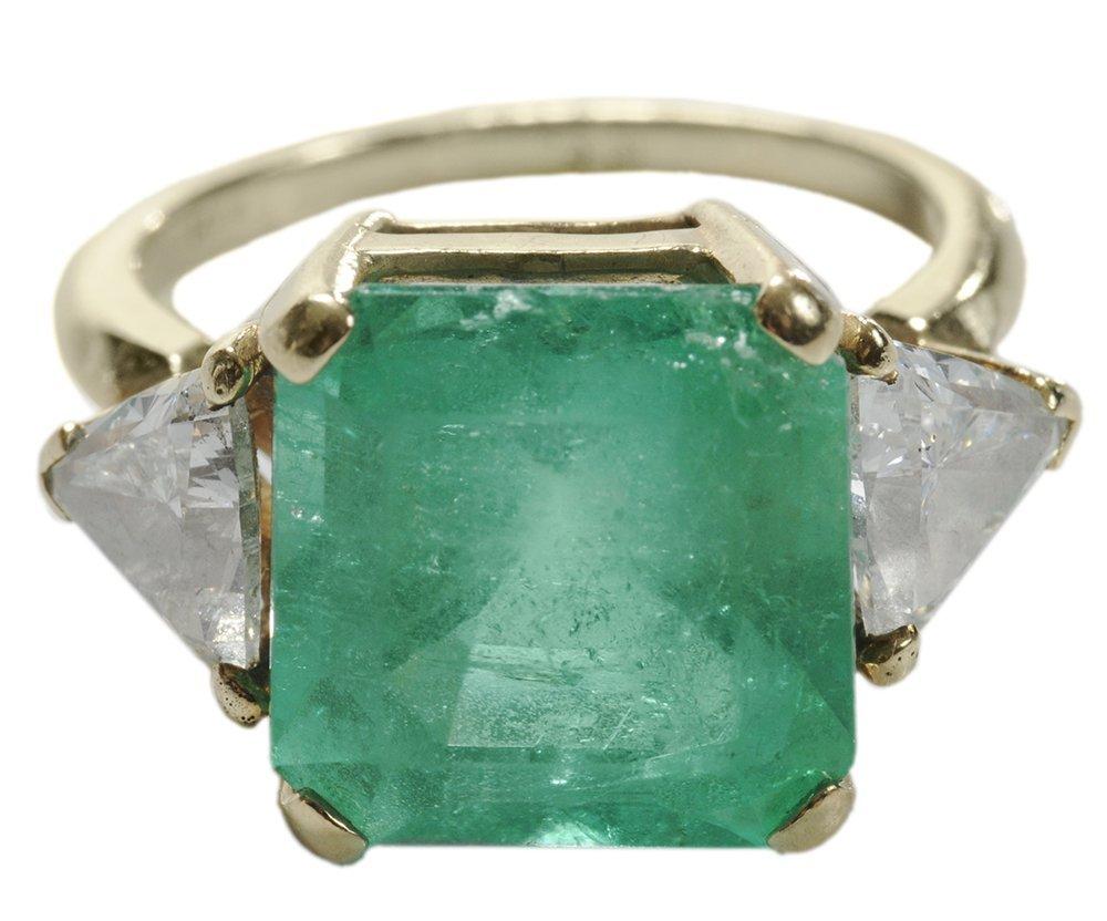 9.76 Ct. Emerald, Diamond Ring