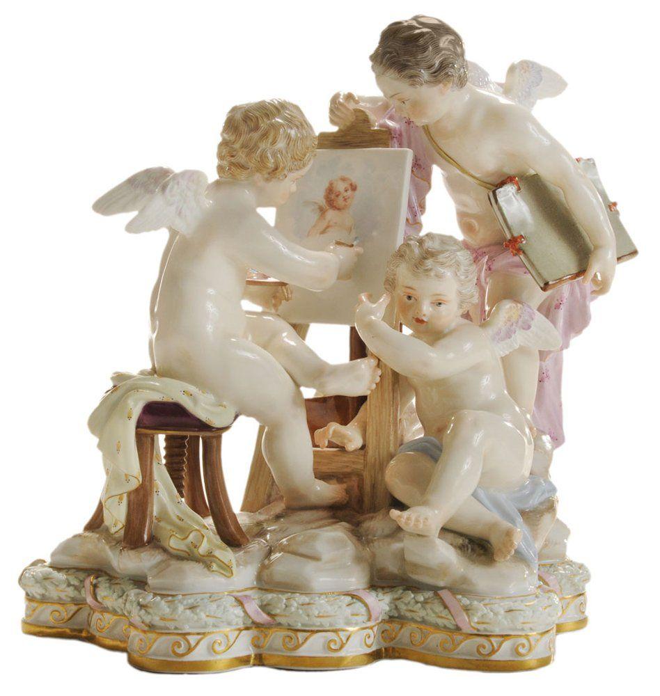 Large Meissen Porcelain Figural