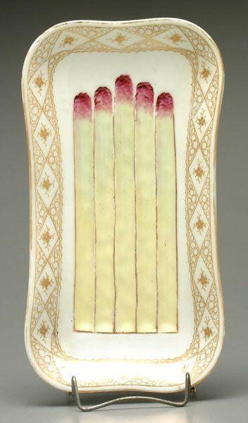 Porcelain asparagus tray,