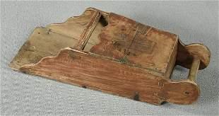 Wooden grain scoop,